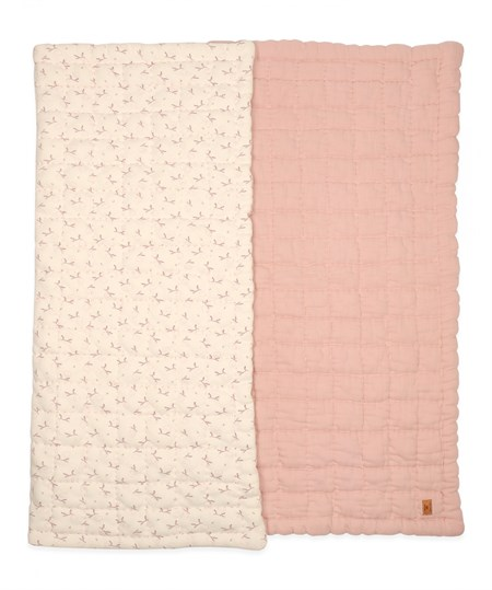 DOUBLE FACE INTERLOK YORGAN 100X120CM +/- 3cm PUDRA PEMBE